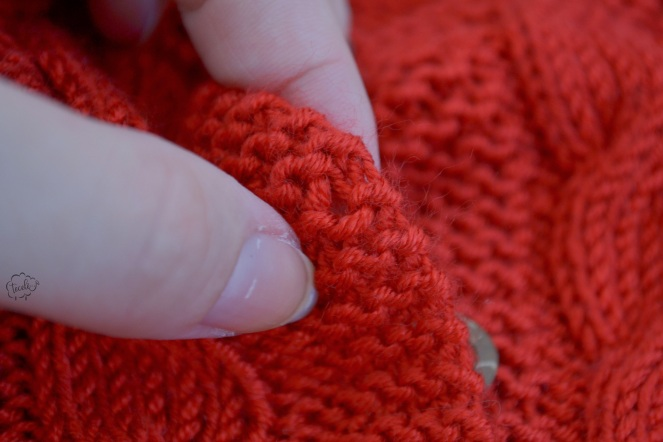Casaquinho vermelho botões 8