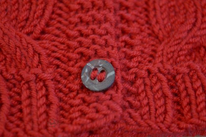Casaquinho vermelho botões 9