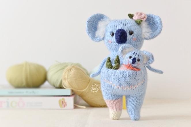 Mãe Koala e bebe 8